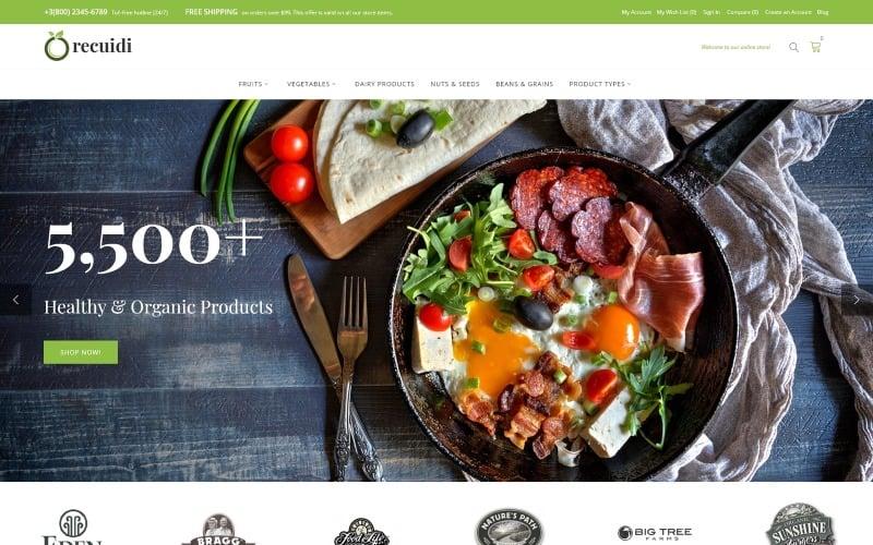 Recuidi - Healthy Food Store Magento Theme
