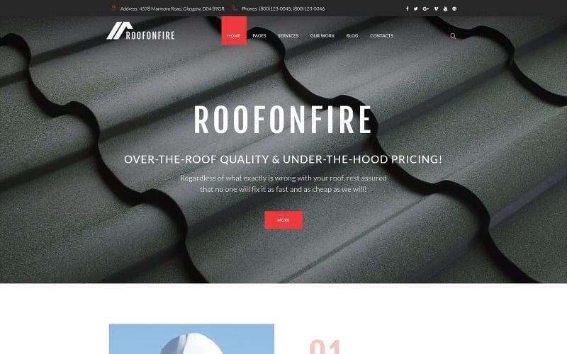RoofOnFire - Roofing Company Responsive WordPress Theme