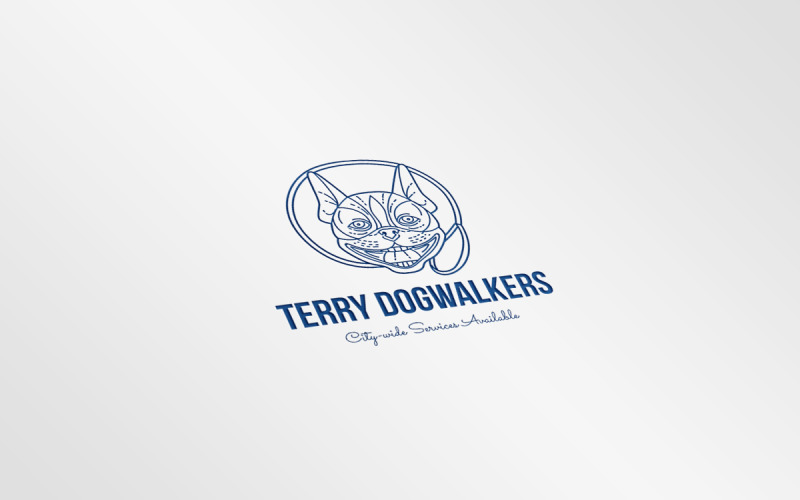 Шаблон логотипа Terry Dogwalkers