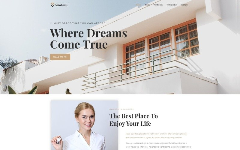 Sanohimi Exotic Hotel WordPress-tema
