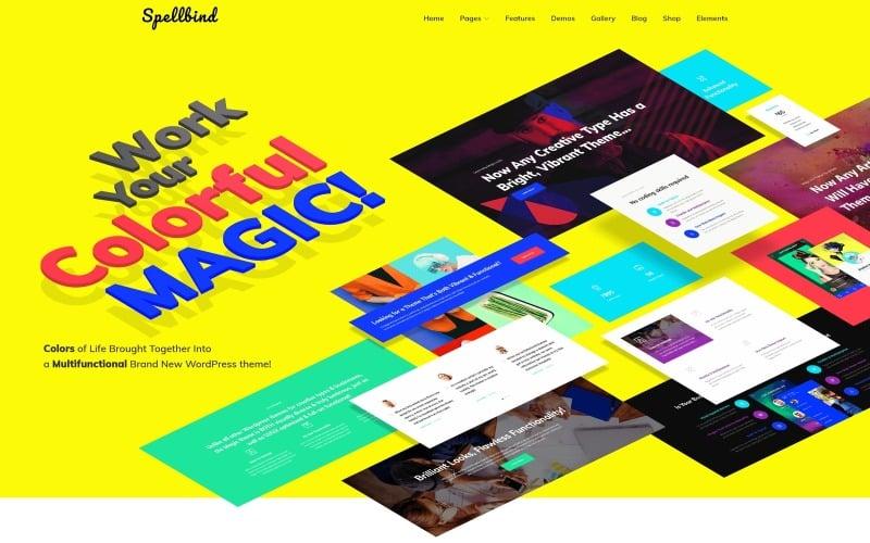Spellbind - Designer Landing Page WordPress theme