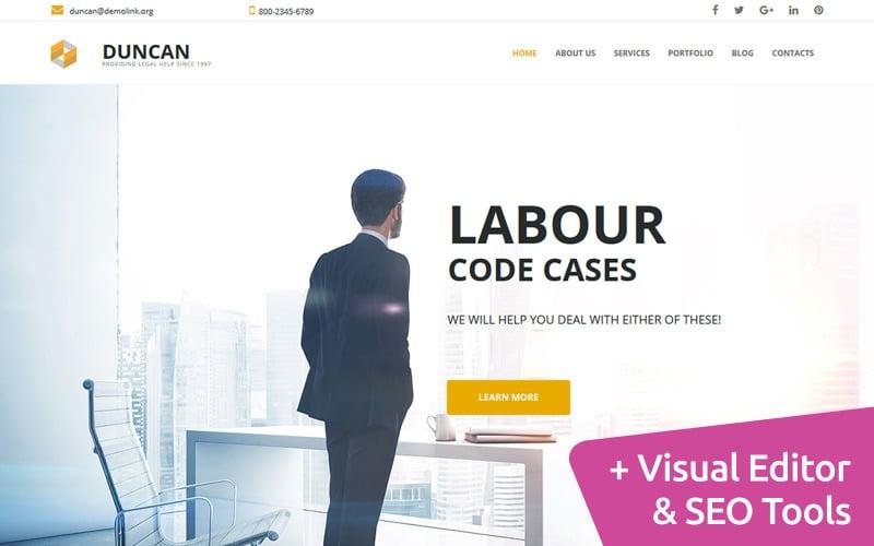 Ügyvédi irodai weboldal Moto CMS 3 sablon