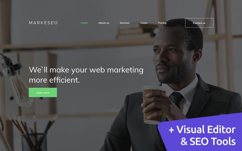 Markeseo - Digital Marketing Agency Premium Moto CMS 3 Template