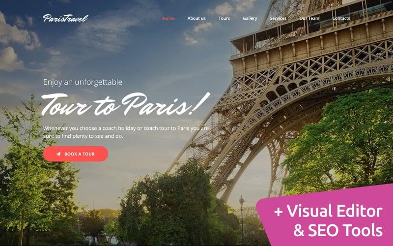 Paris Travel Agency Premium Moto CMS 3 Template
