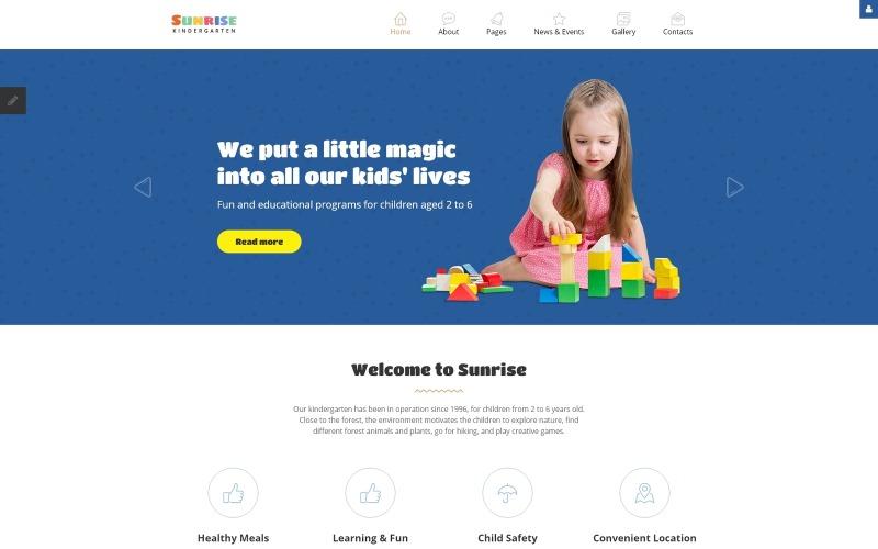 Адаптивный шаблон Joomla Kids Center