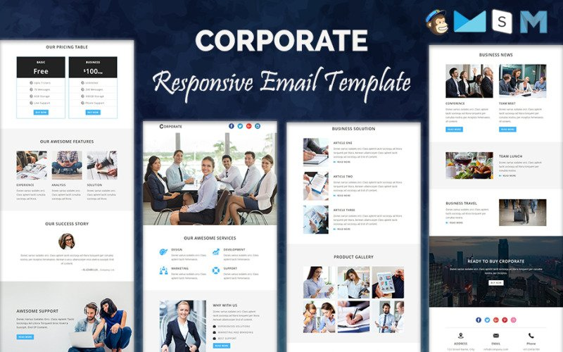 CORPORATE - Responsive Newsletter Template