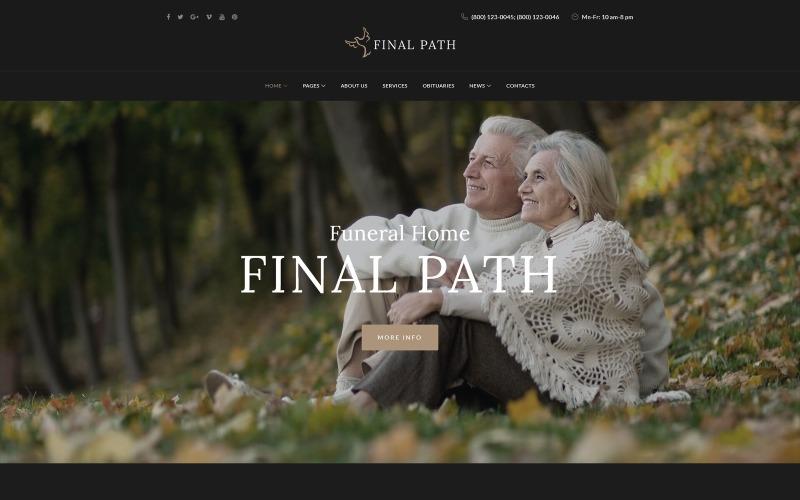 Final Path - Адаптивная тема WordPress для похоронного бюро