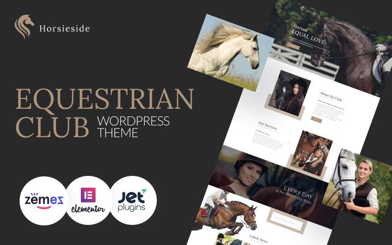 Horsieside - Responsive WordPress-thema van het hippische centrum