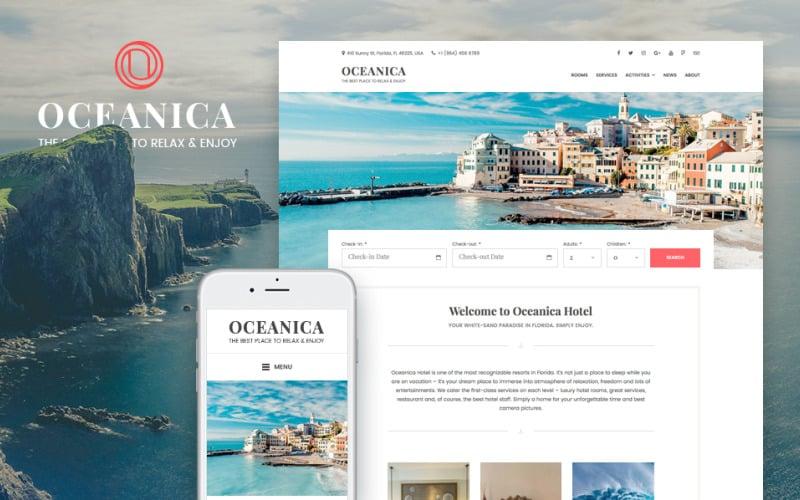 Hotel Booking WordPress Theme - Oceanica