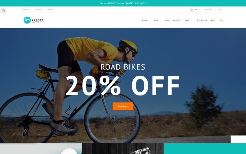 Impresta - Tema PrestaShop del negozio di biciclette