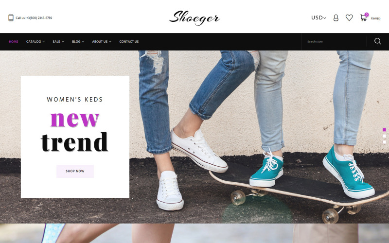 Shoe Store Responsive Shopify Theme