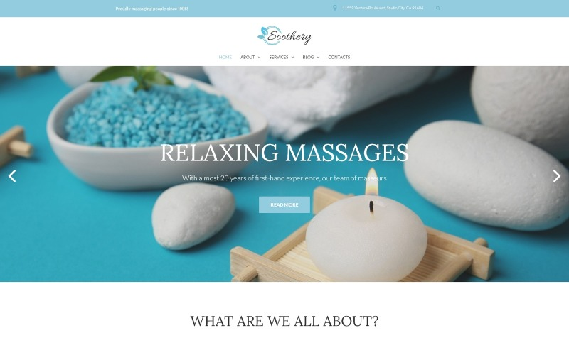 Soothery - адаптивная тема WordPress для спа и массажных салонов