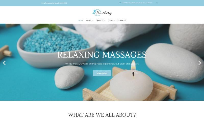 Soothery - Tema WordPress adaptable para spa y salón de masajes