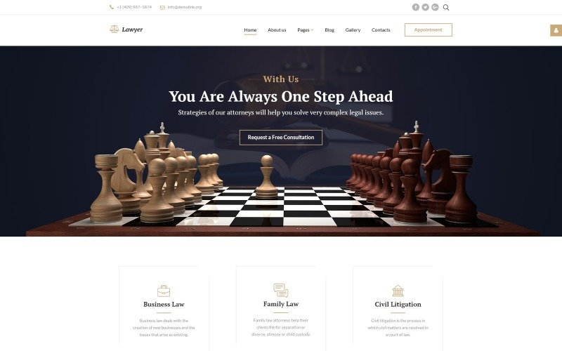 Адаптивный шаблон Joomla для юридической фирмы