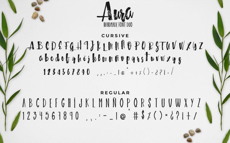 Aura betűtípus duó betűtípus