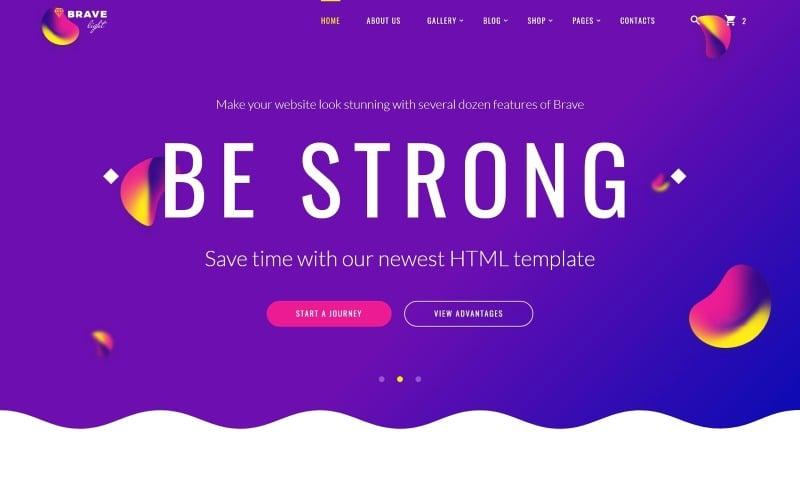 Brave Light - Plantilla de sitio web universal multipropósito creativo