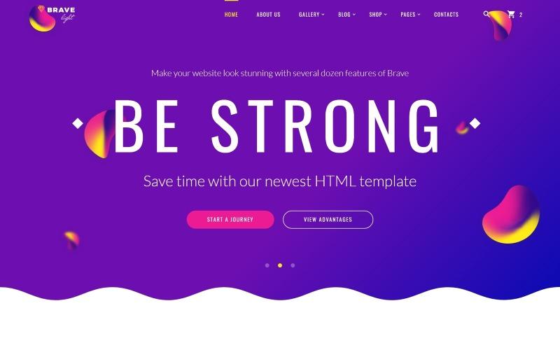 Brave Light - Yaratıcı Evrensel Çok Amaçlı Web Sitesi Şablonu