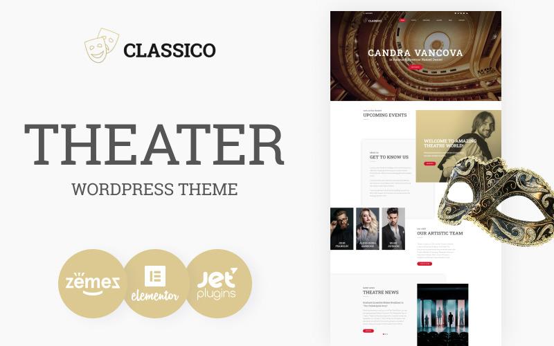 Classico - адаптивная тема WordPress для театра