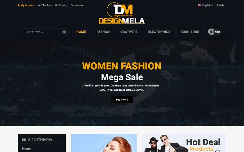 Modèle PSD DesignMela eCommerce