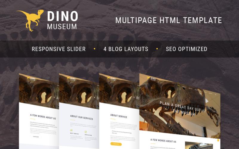 Dino Museum Website Template