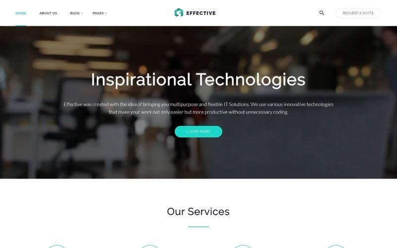 Efficace - Modèle de site Web d'agence de développement et de conseil
