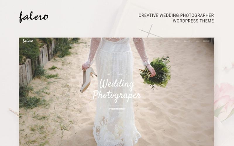Motyw WordPress dla fotografa ślubnego Falero
