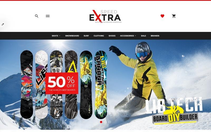 Responsieve OpenCart-sjabloon voor schaatsen
