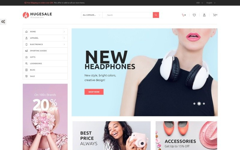 Hugesale - All Purpose Store PrestaShop Theme