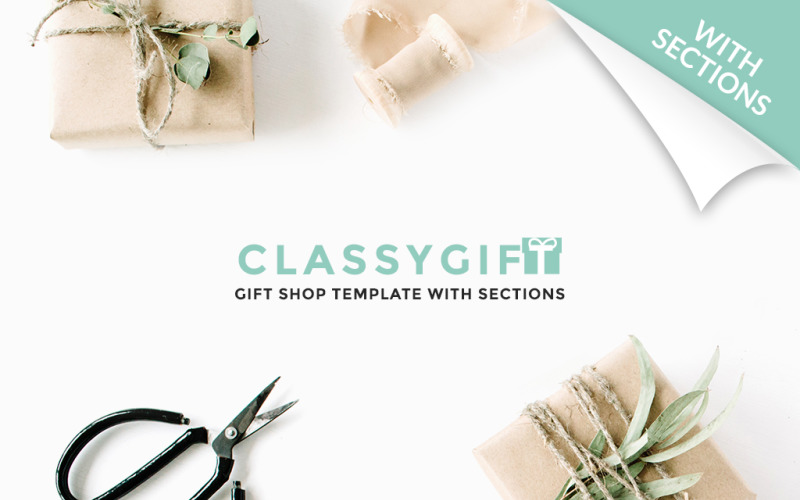 Thème Shopify réactif pour boutique de cadeaux