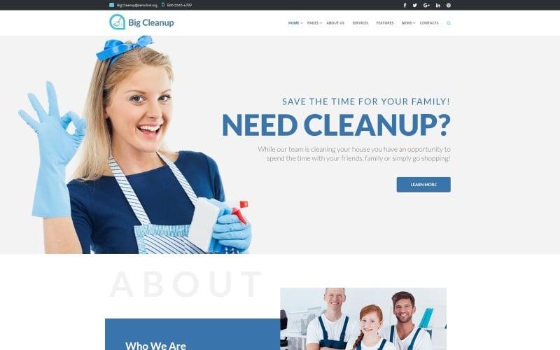Big Cleanup - Thème WordPress réactif pour les services de nettoyage