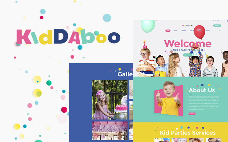 Kiddaboo - Duyarlı Çocuk Partileri Hizmetleri WordPress teması