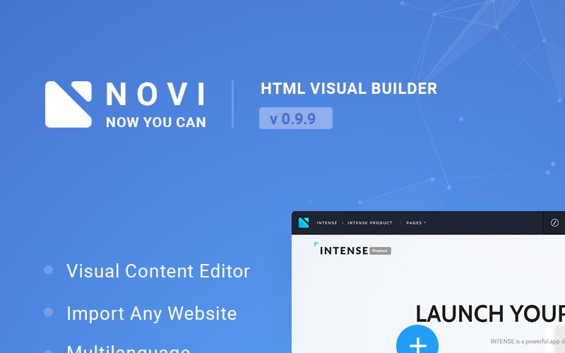 Novi - Visual HTML Page Builder & Content Editor JavaScript