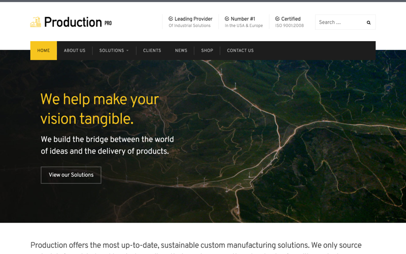 Production Pro WordPress Theme