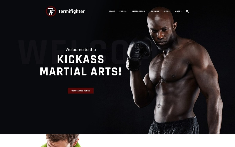 Termifighter - адаптивная тема WordPress для клуба боевых искусств