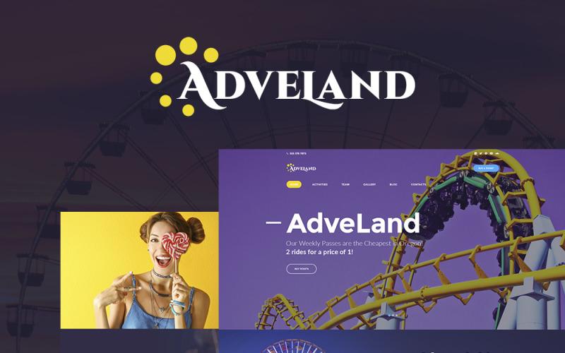 Adveland - Адаптивна WordPress тема для парку розваг