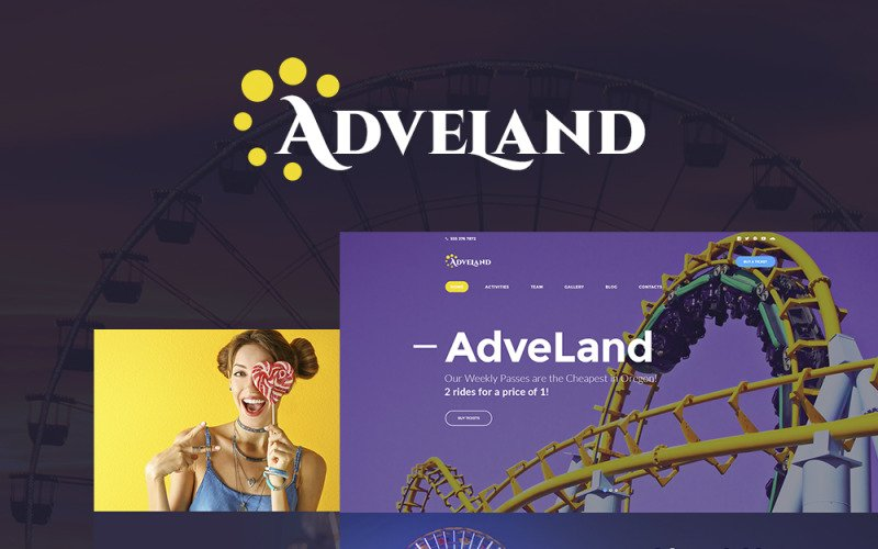 Adveland - Amusement Park Responsive WordPress Theme