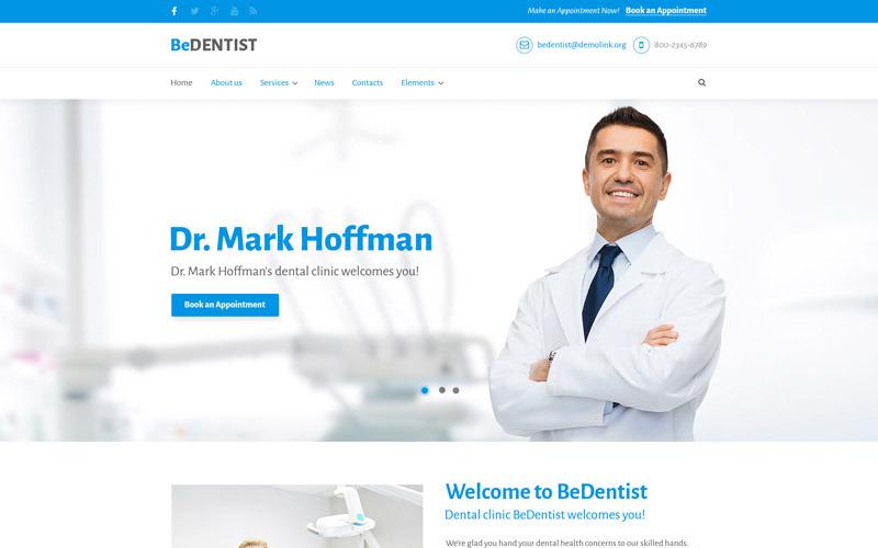 BeDentist - стоматолог та медичний преміум шаблон Drupal