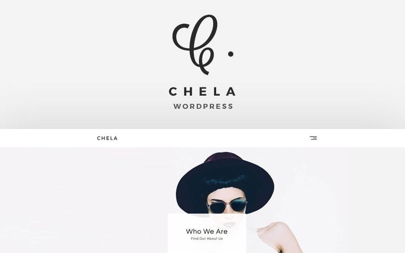 Chela - Ett WordPress-tema för minimal byrå