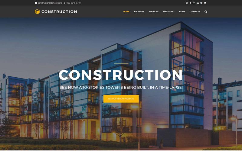 Премиум шаблон Drupal для строительной компании