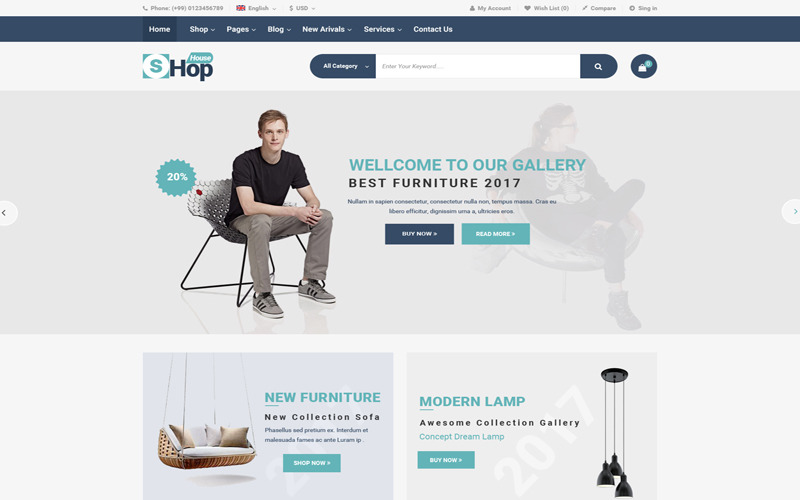 PSD шаблон магазина модной одежды