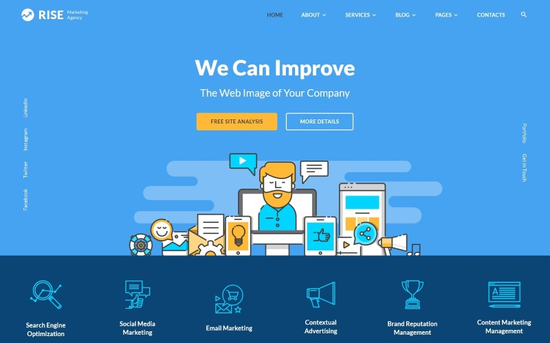 Rise - Marketing Agency Multipage Website Template