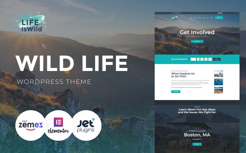 LifeisWild - тема WordPress о дикой природе