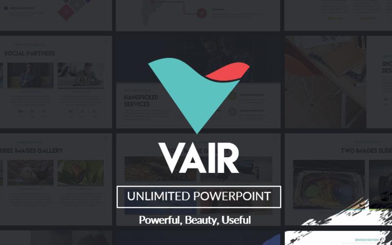 Vair PowerPoint prezentace PowerPoint šablony