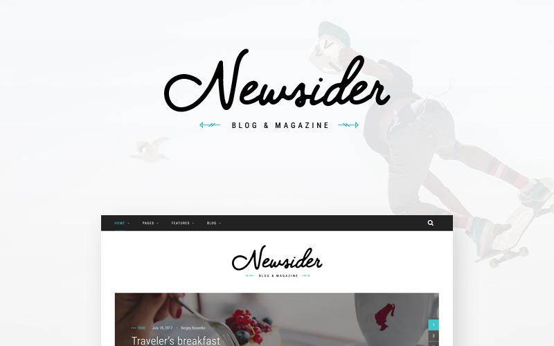 Newsider - тема WordPress для журналов и блогов