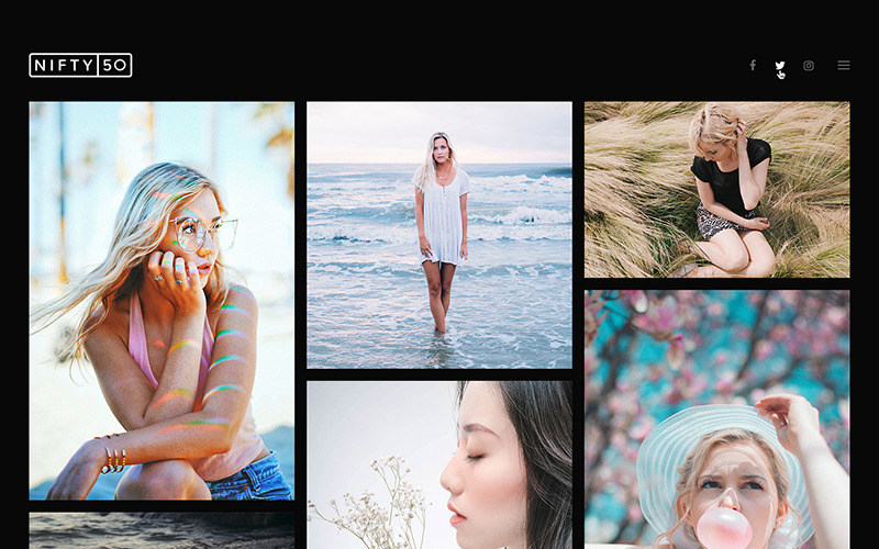 Nifty Fifty - тема WordPress для фотографов
