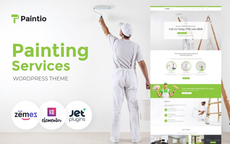 Paintio - Wallpapering & Painting Services WordPress Theme