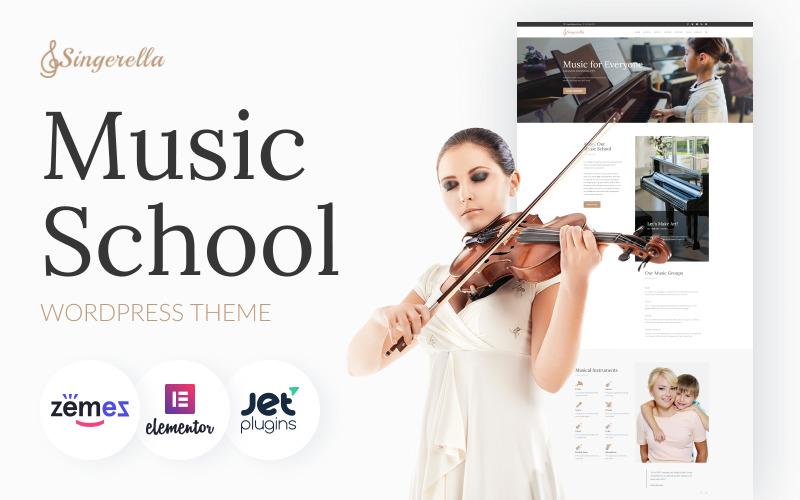 Singerella - Muziekschool WordPress-thema
