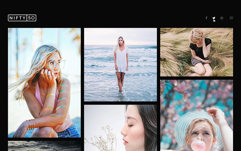 Tema WordPress de Fotografia - Nifty Fifty