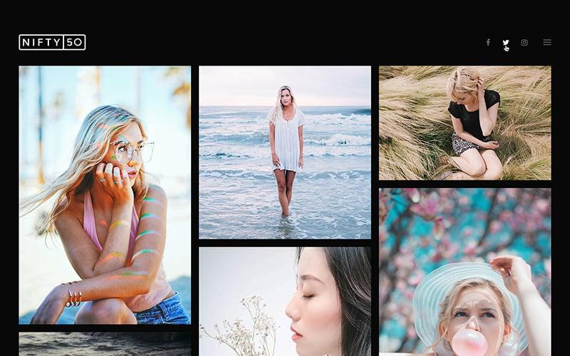 Тема WordPress для фотографий - Nifty Fifty