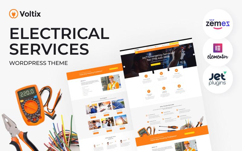 Voltix - WordPress Theme für elektrische Dienste Electrical
